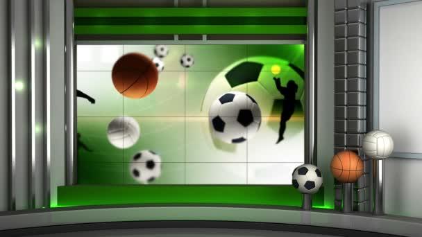 Sportovní virtuální nastavit pozadí Hd video opakování