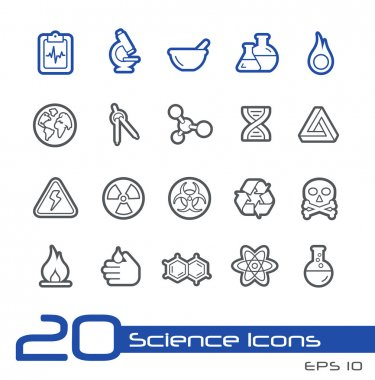 Science Icons -- Line Series