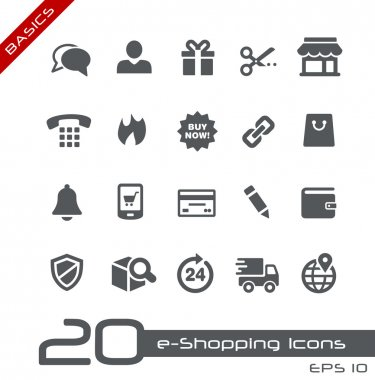 E-Shopping Icons -- Basics