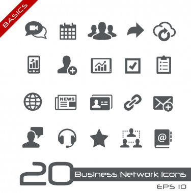 Business Network Icons -- Basics