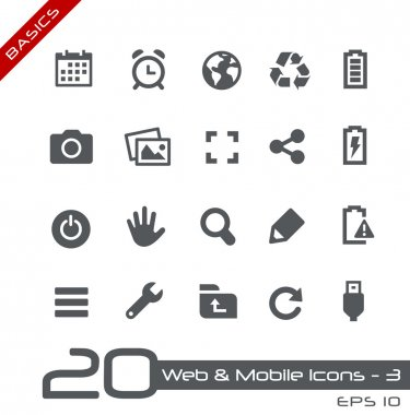 Web & Mobile Icons-3 -- Basics