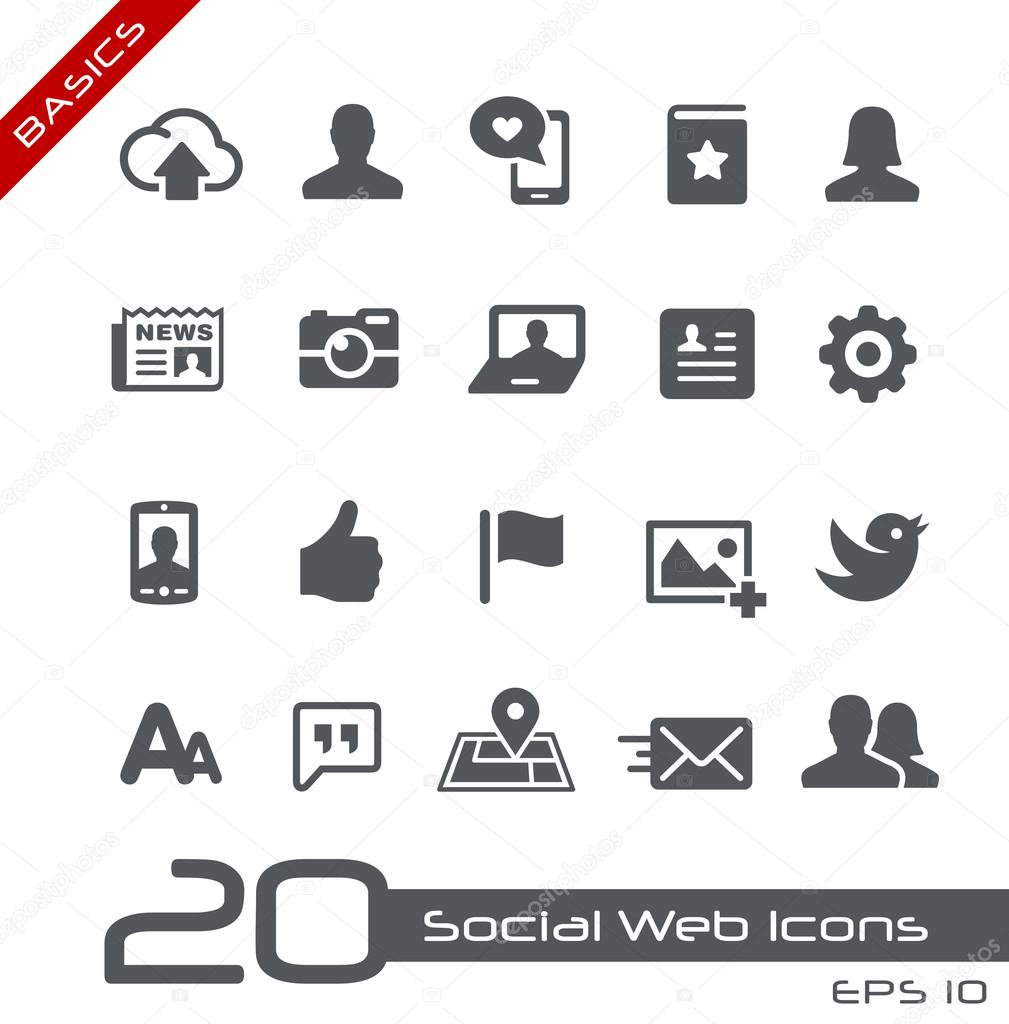 Social Web Icons -- Basics