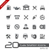 Photo Gas Station Icons -- Basics