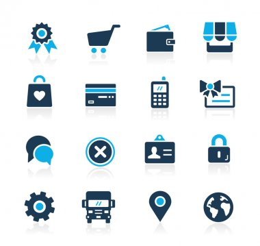 Online Store Icons -- Azure Series