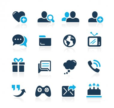 Social Communications Icons -- Azure Series