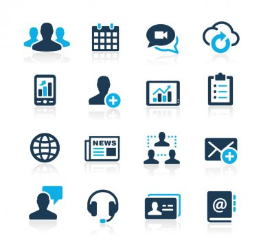 Business Technology Icons -- Azure Series