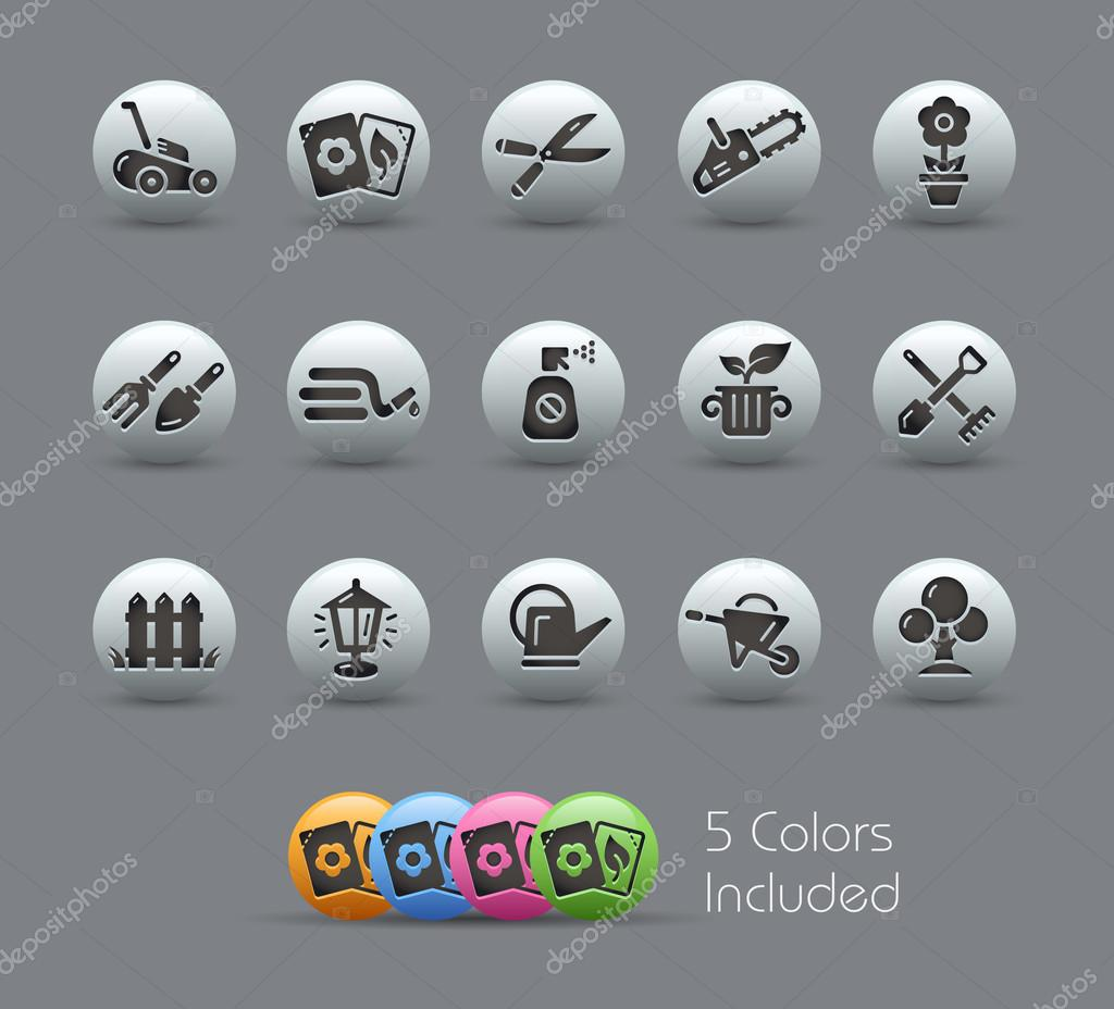 Gardening Icons -- Pearly Series