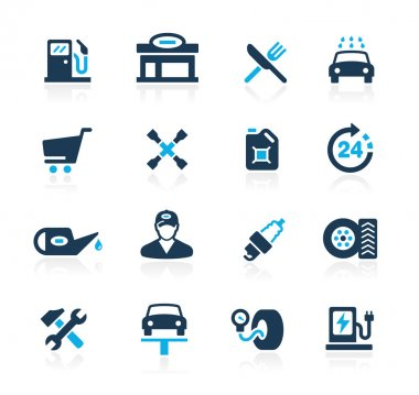Gas Station Icons -- Azure Series