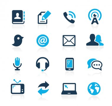 Communications Icons -- Azure Series