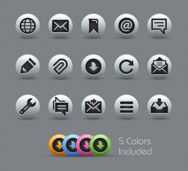 Messages Icons -- Pearly Series