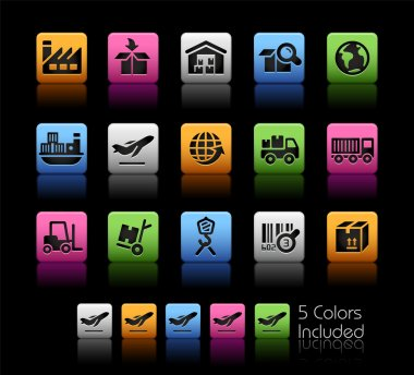 Industry and Logistics Icons -- ColorBox Series