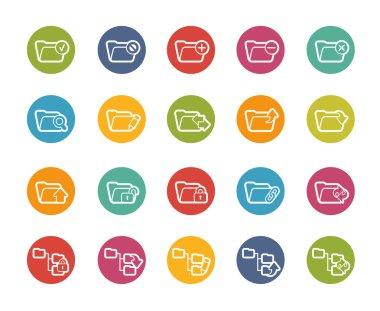 Folder Icons - 1 of 2 -- Printemps Series