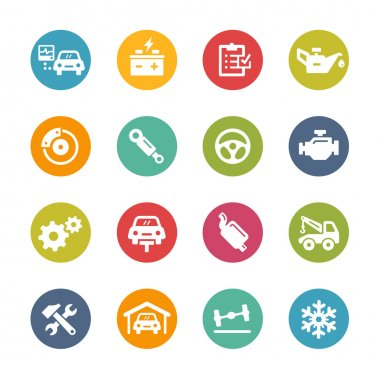 Car Service Icons -- Fresh Colors Series