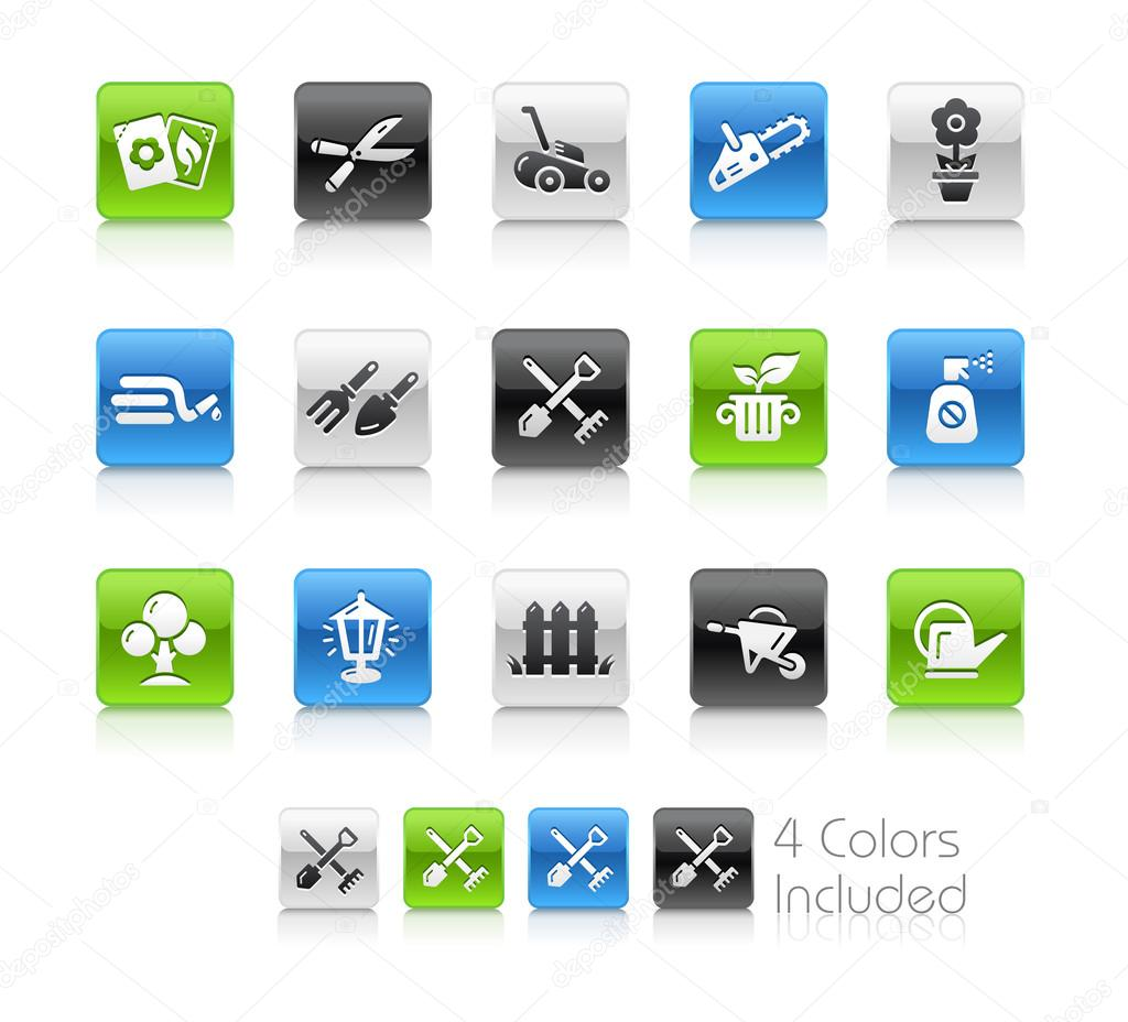 Garden and Gardening Icons -- Clean Series