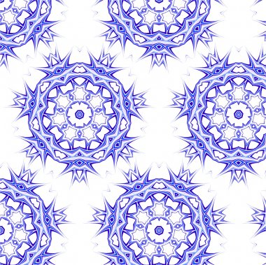 Lace floral colorful ethnic ornament seamless pattern