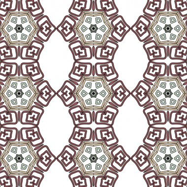 vintage color ethnic ornament  pattern flower