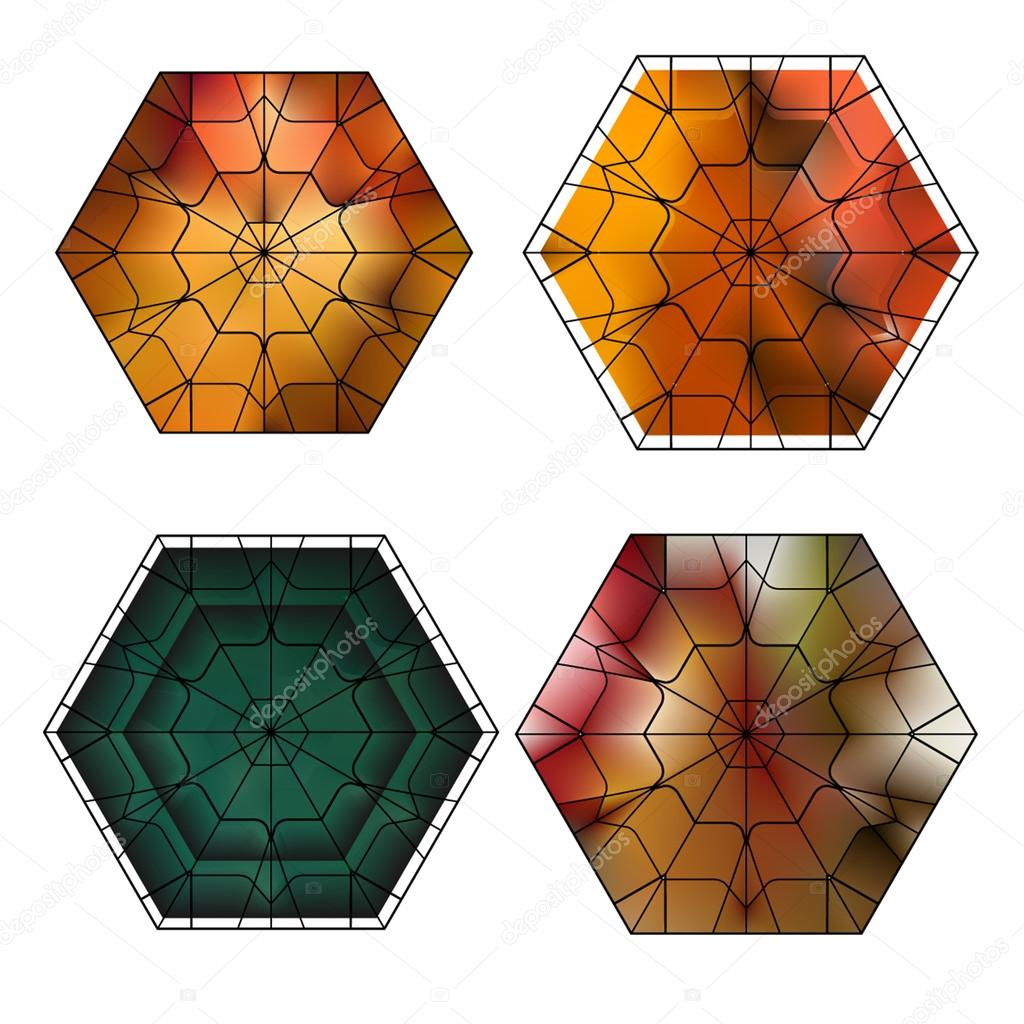 set of gemstone vector pattern