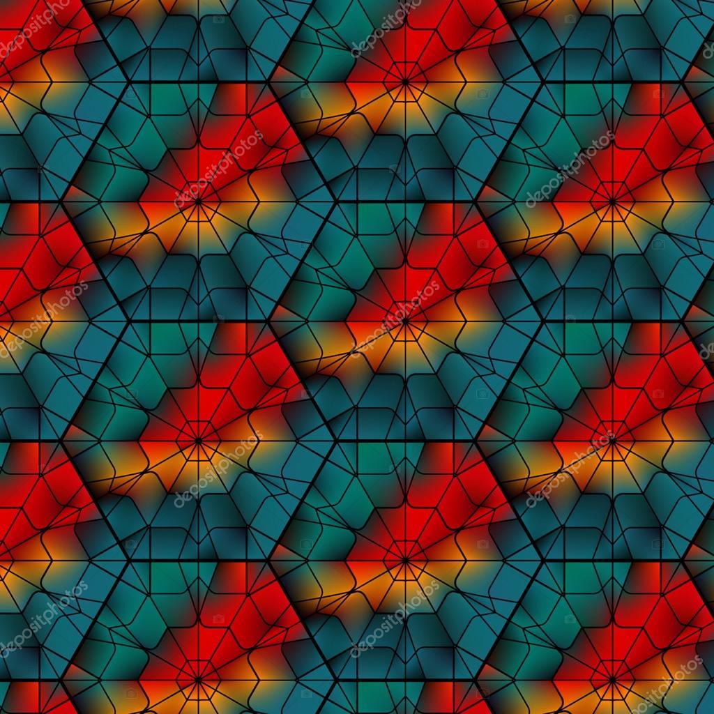 Seamless  gemstone vector pattern