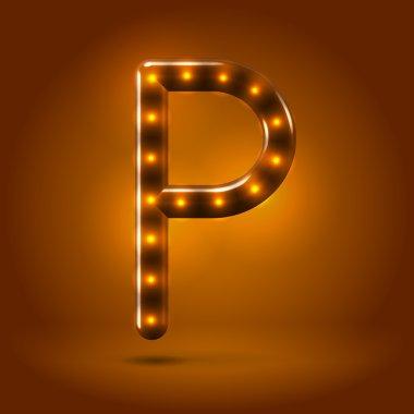 Capital letter P letter