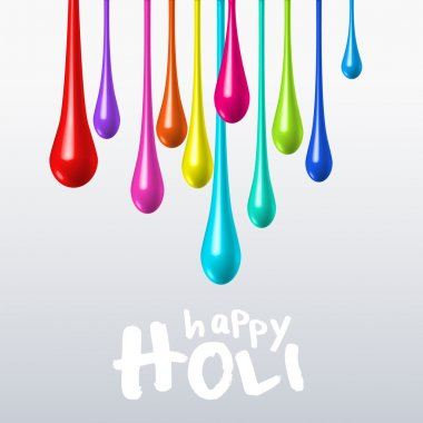 Dripping colors on holi festival vector postcard stock vector