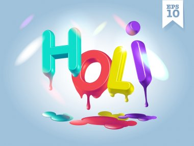 Dripping Holi letters