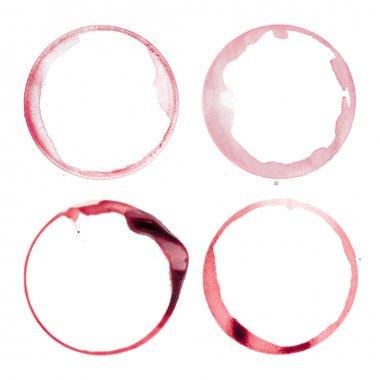 Four wine glass stains