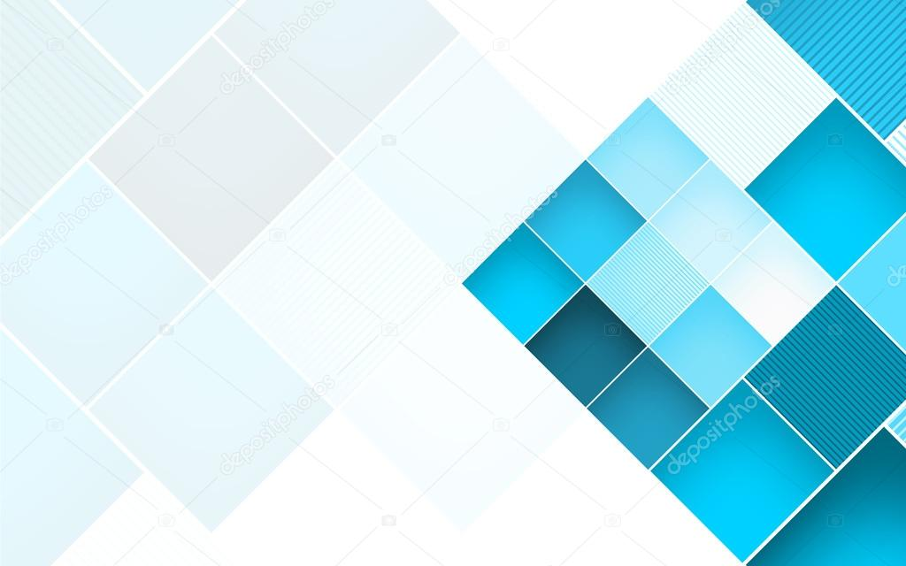 Vector Square Background Hd Vector Three Dimensional: Abstract Square Blue Background. Vector Illustration