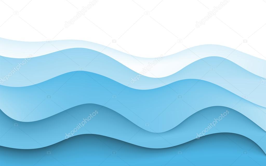 Astratto Sfondo Pallavolo Disegno Vettoriale: Disegno Astratto Sfondo Creatività Delle Onde Blue. Vector