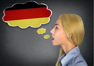 German learning woman