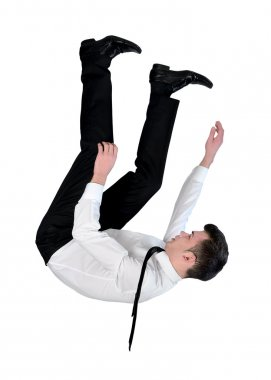 Business man fall down