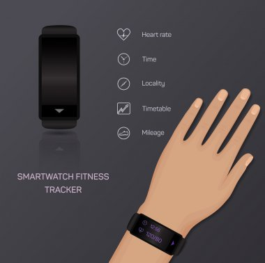 Health care, bracelet, hand, heart rate, time, locality, mileage, fitness tracker, jogging, pace