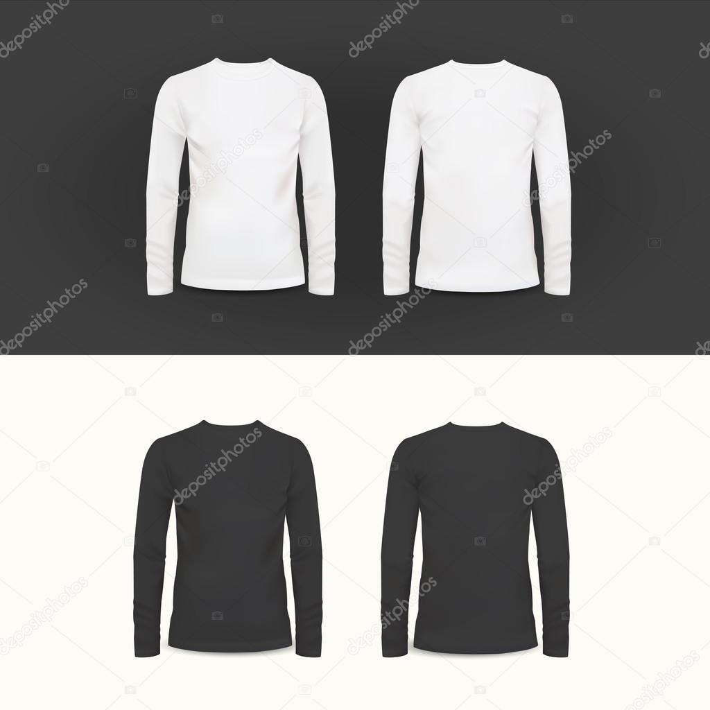 Vector t-shirt, polo shirt and sweatshirt design template. — Stock ...