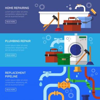 Plumbing repair fix the clog pipeline