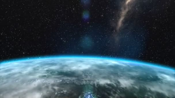 Napkelte felett a föld animáció