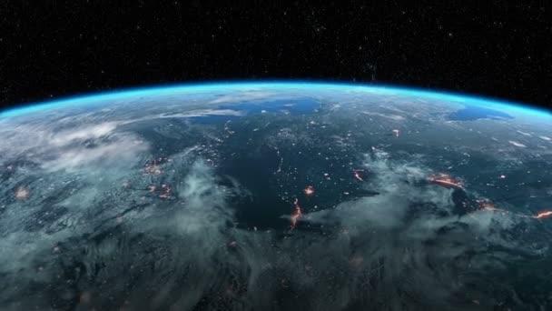 Moderní satelit obíhá okolo země