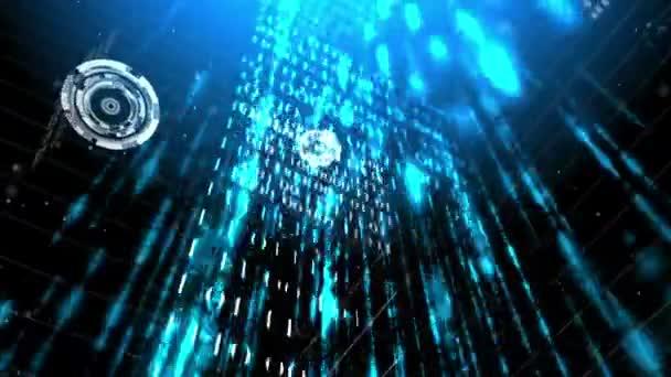 Pareti di futuristico codice binario astratto