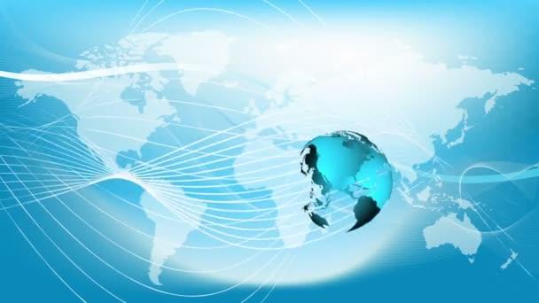 Modrá země technologie, obchodní a komunikační pozadí smyčka