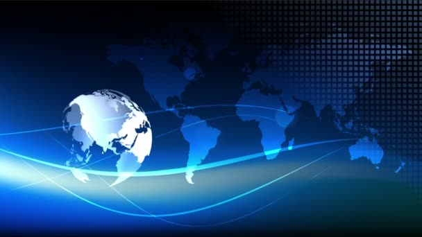 Blue earth technology, business and communications background loop