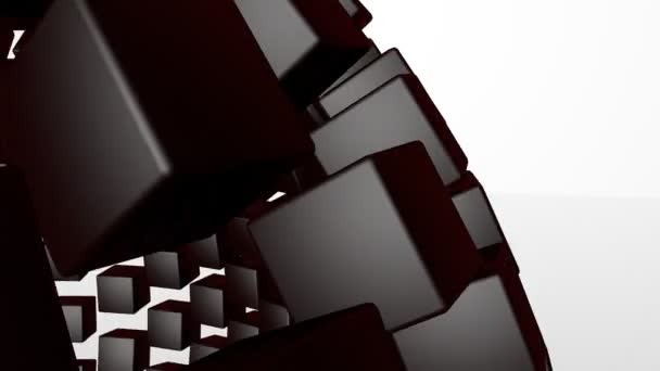 3D abstract advanced technology motion background. Seamless loop