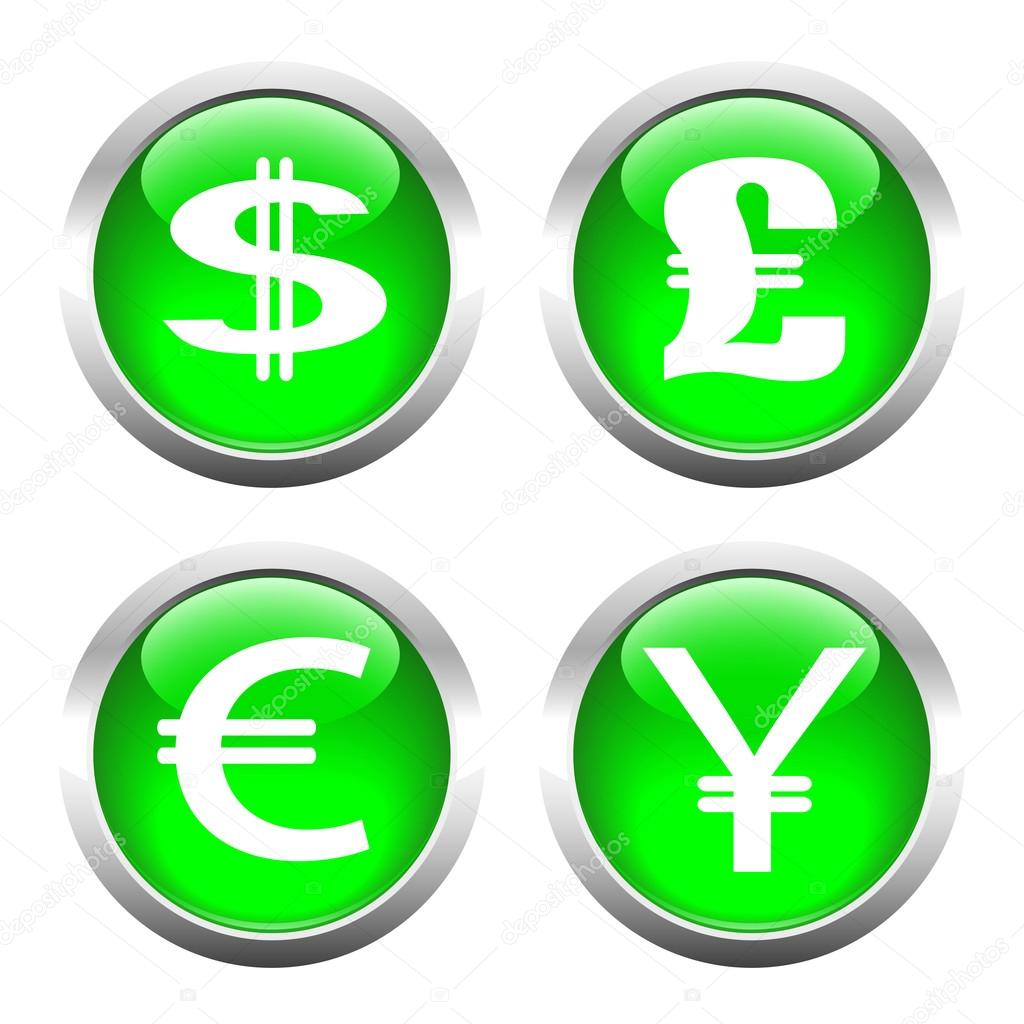 Set of buttons for web currency symbols dollar euro pound y set of buttons for web currency symbols dollar euro pound y buycottarizona Choice Image