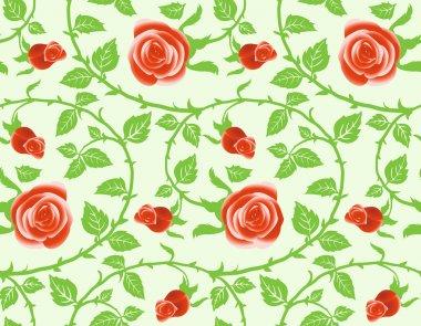 Seamless texture, floral theme.