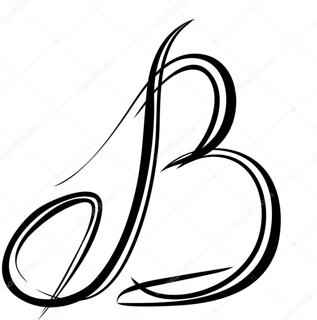 Letra Mayúscula Principal Vectores De B Vector De Stock