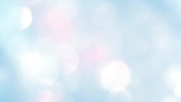 Mozog-e fel fények bokeh - absztrakt animáció háttér - lemezek emelkedik - hosszú vágott fehér fény csillogó felső kék háttérben fény.