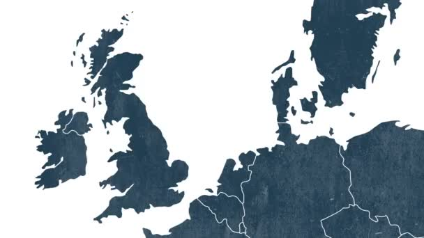 Brexit, the UKs EU referendum - The United Kingdom is erased from the map of EU - evaporation smoke effect - white background