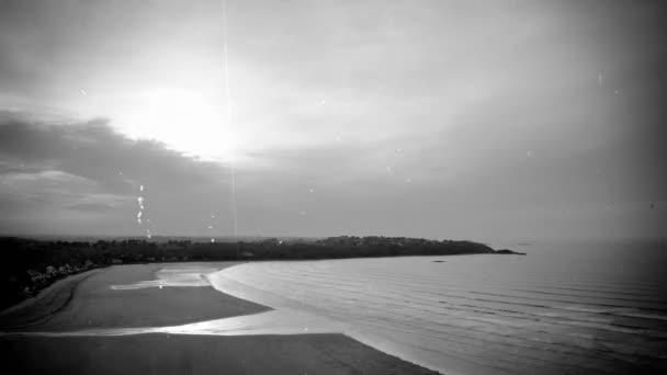 Time-Lapse zálivu a příliv - vintage filmu