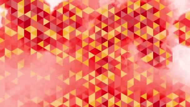 grafické barevné animace s červenými a oranžovými trojúhelníky a skvrny účinky v pozadí - Full Hd