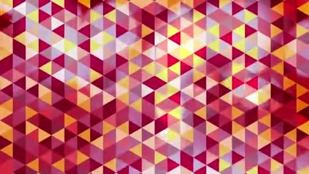 grafické barevné animace s trojúhelníky a pokryté záblesky v bokeh - Full Hd