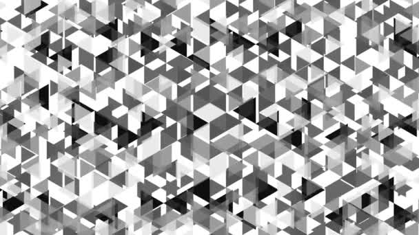 Simple graphic animation with growing gray triangles - full hd