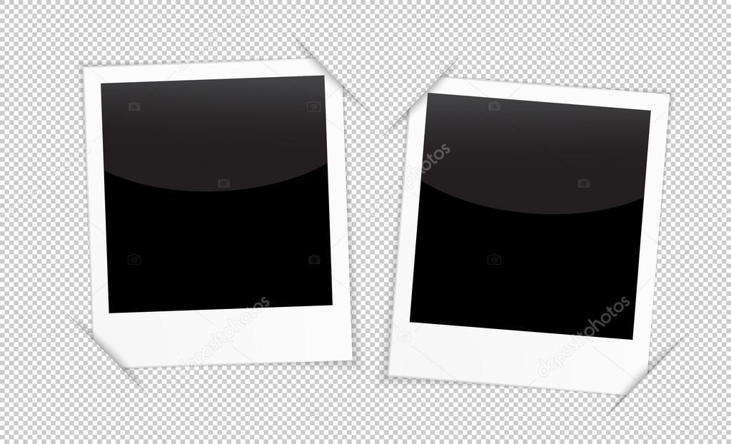 Retro-2 Bilderrahmen auf transparenten Hintergrund — Stockvektor ...
