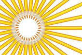 Sluneční paprsky obrázek ze žluté tužky
